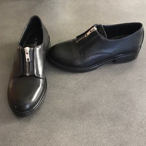Jonak Paris leather zipper amidon derby's